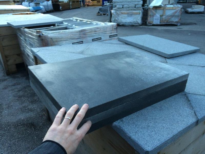 Choix des dalles en granit pour faire le marbre de controle en granit DIY