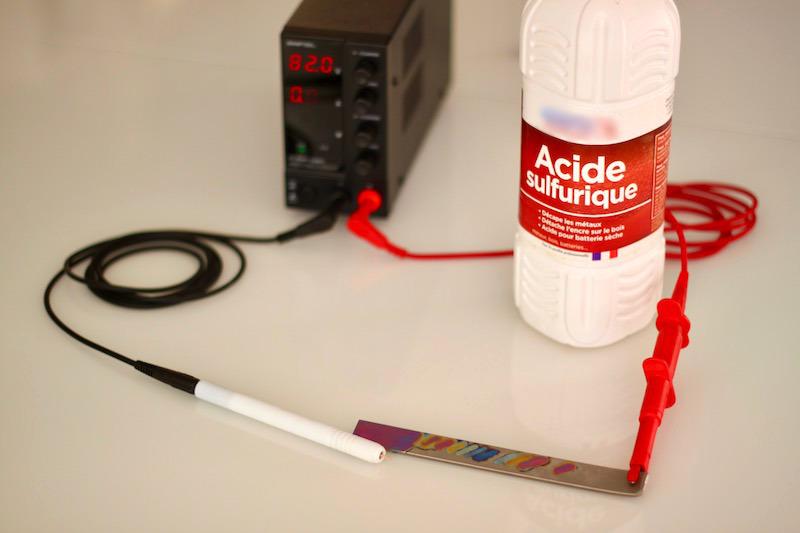 matériel pour anodisation titane au stylo