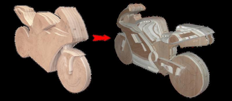 Mise en forme de la Ducati 996 à bascule à l'aide de la lime électrique