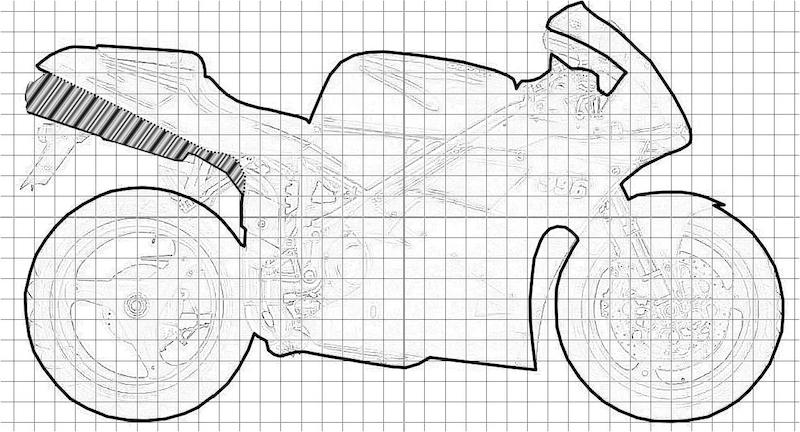 Profil complet DUCATI 996 sans échappement