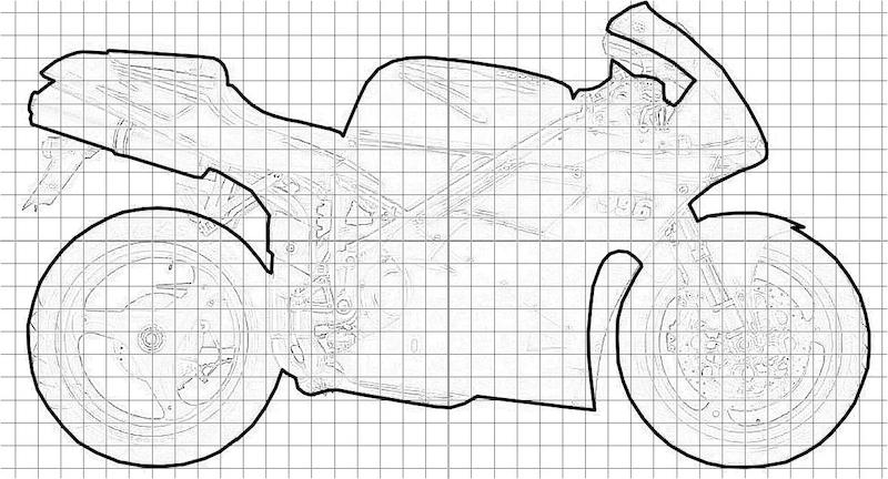 Contour complet Ducati 996