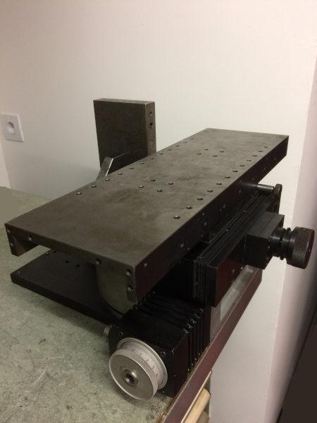 affuteuse maison affûteuse DIY assemblage table croisée diviseur et potence de broche