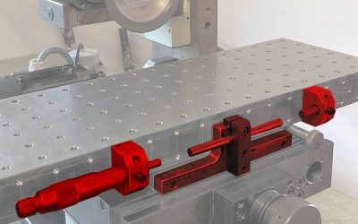 Butée micrométrique maison pour machine-outil.